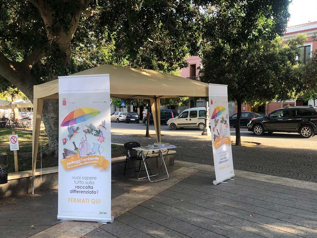 Punto informazioni sulla raccolta differenziata nel comune di Iglesias